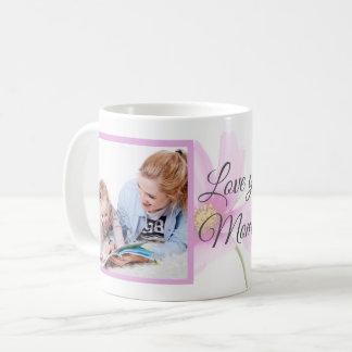 Caneca De Café Amor floral você foto dois do dia das mães   das