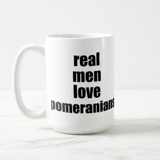 Caneca De Café Amor real Pomeranians dos homens