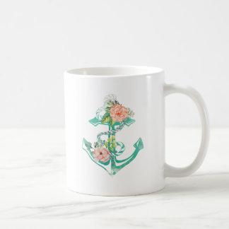 Caneca De Café Âncora e rosas