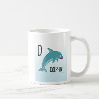 Caneca De Café Animais do alfabeto - D é para o golfinho