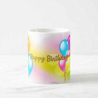 Caneca De Café Aniversário colorido