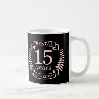 Caneca De Café Aniversário de casamento de cristal 15 anos
