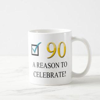 Caneca De Café Aniversário feliz do 90