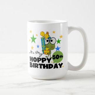 Caneca De Café Aniversário Hoppy de Froggie 50th