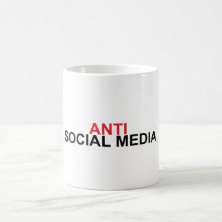 Caneca De Café Anti meios sociais
