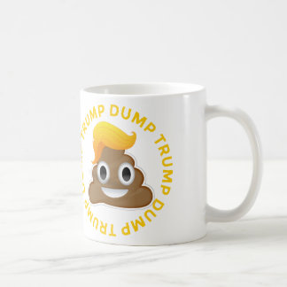 Caneca De Café Anti-Trunfo Donald Poo Donal do #DumpTrump do