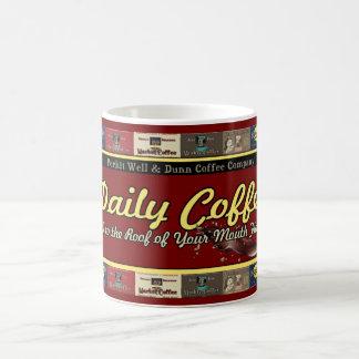 Caneca De Café Anúncios retros do vintage diário do café