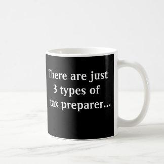 Caneca De Café Apenas 3 tipos de preparador de imposto