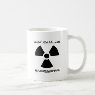 Caneca De Café Apenas chame-me radioativo (o sinal radioativo)