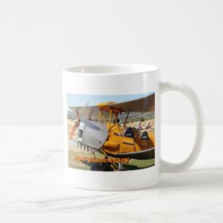 Caneca De Café Apenas louco plano: Aviões do biplano da traça de
