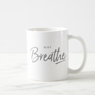Caneca De Café Apenas respire, ioga, citações do zen