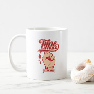 Caneca De Café Aperto forte do erro tipográfico um - açúcar no