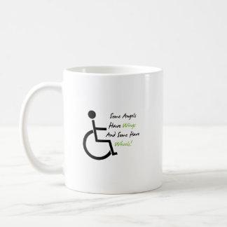 Caneca De Café Apoio do amor da cadeira de rodas do presente da
