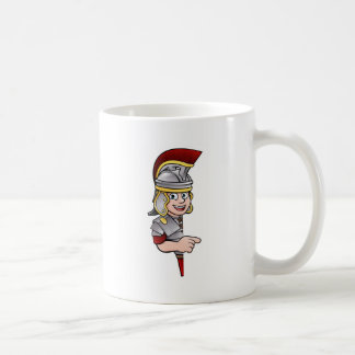 Caneca De Café Apontar romano do soldado