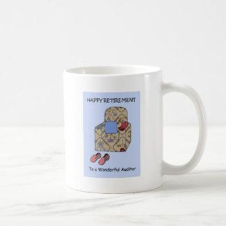 Caneca De Café Aposentadoria feliz do auditor