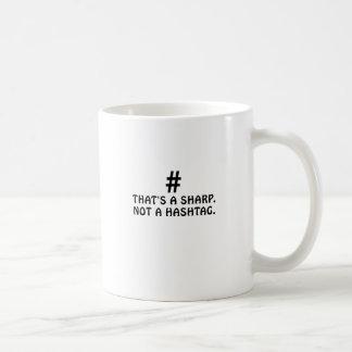 Caneca De Café Aquele é um Sharp não um Hashtag