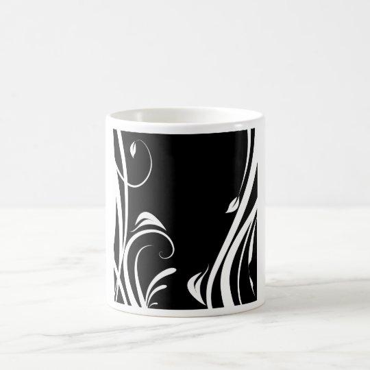 Caneca De Café Arabesco em preto e branco
