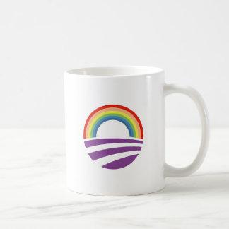 Caneca De Café Arco-íris de Obama