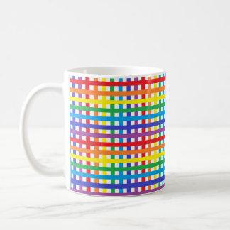 Caneca De Café Arco-íris e Weave do branco