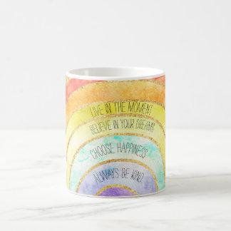 Caneca De Café Arco-íris inspirado das citações