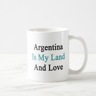 Caneca De Café Argentina é meus terra e amor