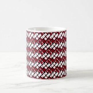 Caneca De Café Argyle vermelho & branco original e legal