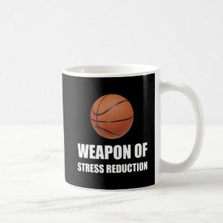 Caneca De Café Arma do basquetebol da redução da tensão