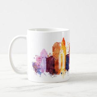 Caneca De Café Arquitectura da cidade de Charlotte
