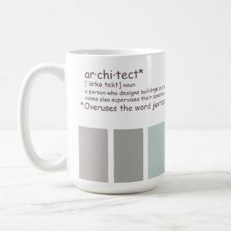 Caneca De Café Arquiteto. Justaposição dos usos excessivo