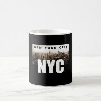 Caneca De Café Arquitetura da foto da skyline da Nova Iorque de