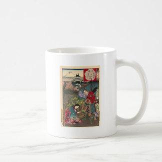 Caneca De Café Arte bonita japonesa do samurai da gueixa