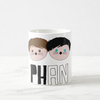 Caneca De Café Arte de Dan e de Phil Phan