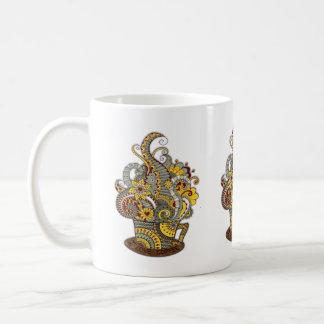 Caneca De Café arte do Artístico-doodle-desenho