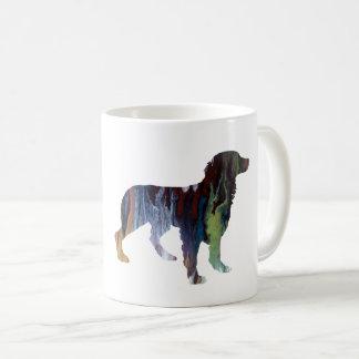 Caneca De Café Arte do cão de Brittany