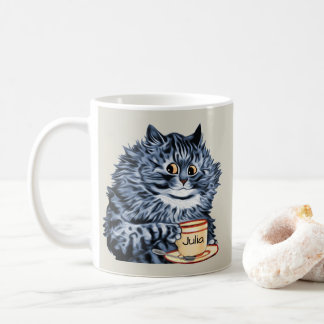 Caneca De Café Arte do gato do Teacup de Louis Wain