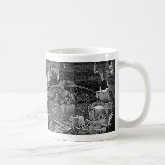 Caneca De Café Arte do gótico da gravura do Woodcut do vintage de