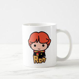Caneca De Café Arte do personagem de desenho animado de Ron
