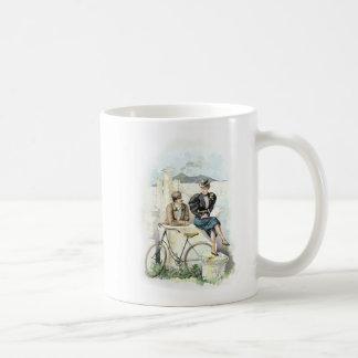 Caneca De Café Arte do vintage/bicicleta antiquado - Pompeii