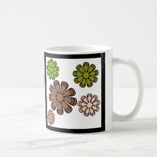 Caneca De Café Arte espiral da camuflagem da flor