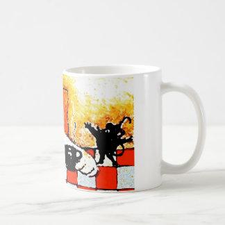 Caneca De Café Arte Gato-Original do copo de café por Streater