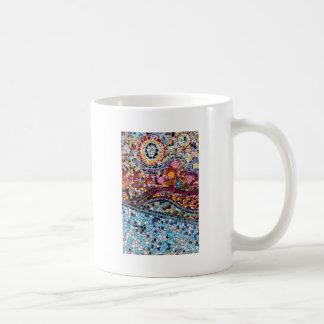 Caneca De Café Arte vibrante da parede do mosaico