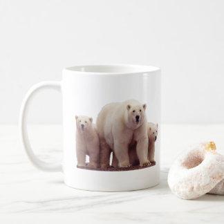 Caneca de café ártica bonita dos animais selvagens