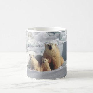 Caneca de café ártica da natureza dos animais