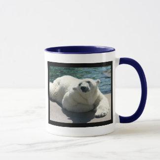 Caneca de café ártica do urso polar
