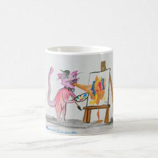 Caneca De Café Artista do vómito do gato