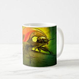 Caneca de café artística do joaninha
