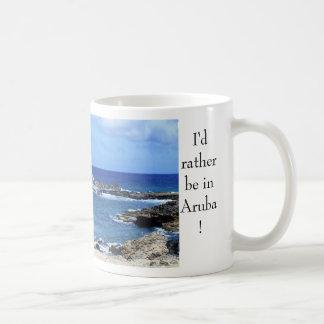 Caneca De Café Aruba 082, eu preferencialmente estaria em Aruba!
