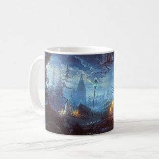 Caneca De Café Árvore assombrada da noite do Dia das Bruxas