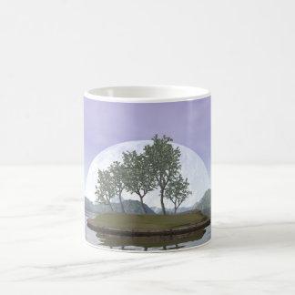 Caneca De Café Árvore com folhas lisa dos bonsais do olmo - 3D