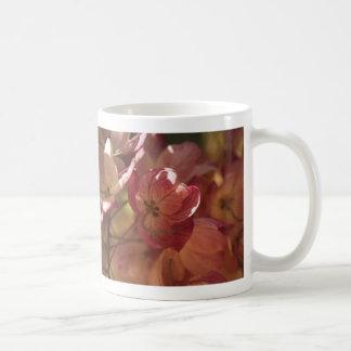 Caneca De Café árvore de florescência cor-de-rosa